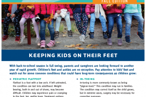 Keeping Kids On Their Feet