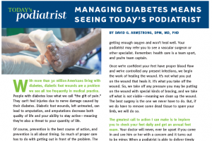 Managing Diabetes Means Seeing Today's Podiatrist